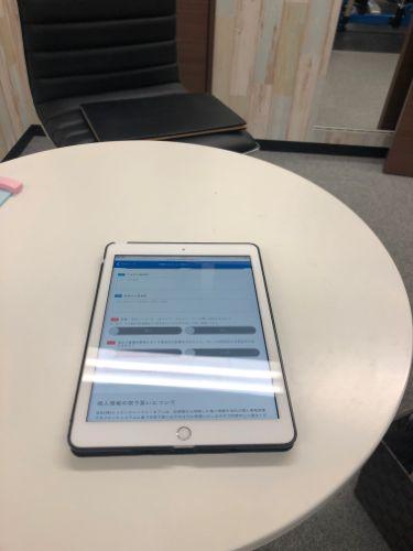 24/7ワークアウト 受付用iPad (トレーニングルーム内)